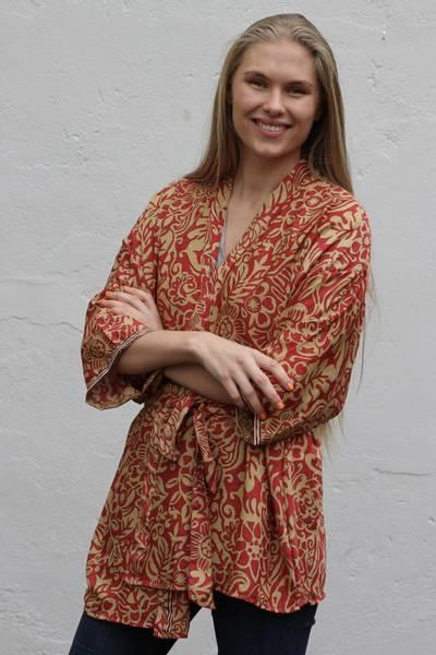 Bilde av Vintage silke kimono - Moa