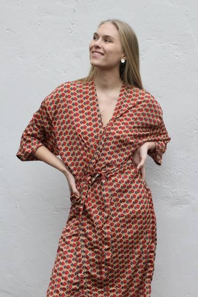 Bilde av Vintage silke kimono - Astrid