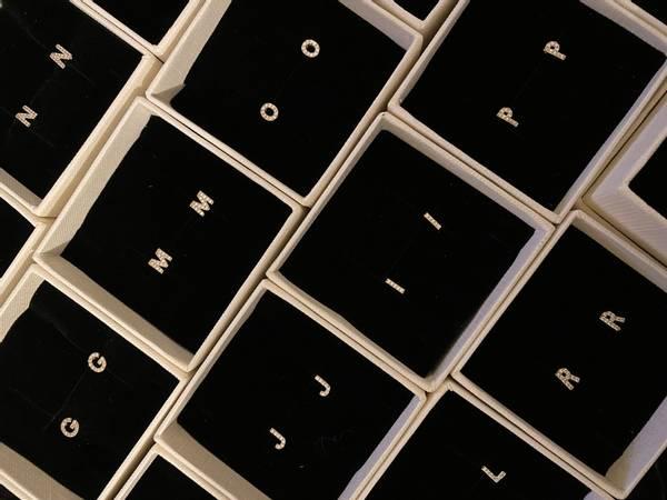 Bilde av Bokstav øredobber med bling