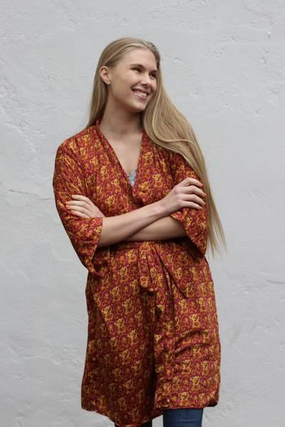 Bilde av Vintage silke kimono - Selma