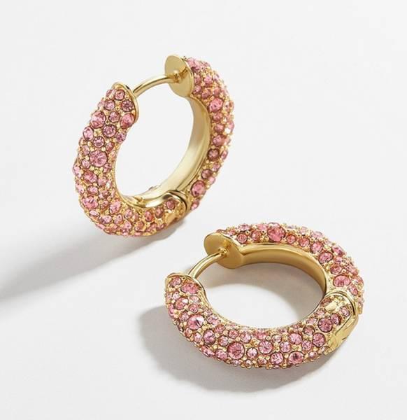 Bilde av Elegante øreringer rosa bling