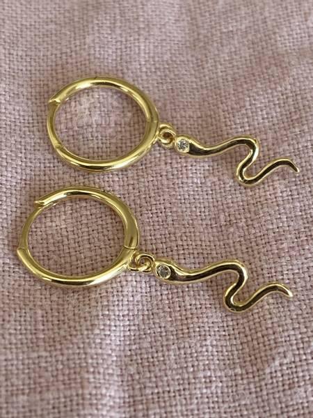 Bilde av Små øreringer med slanger