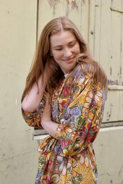 Bilde av Vintage silke kimono - Marna