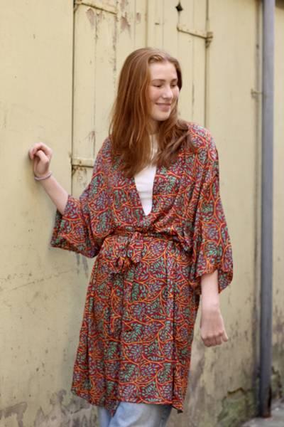 Bilde av Vintage silke kimono - Nanna