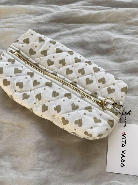 Bilde av Liten taske - hvit med beige