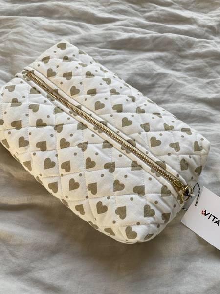 Bilde av Stor taske - hvit med beige