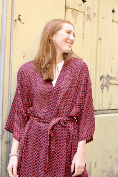 Bilde av Vintage silke kimono - Jenny