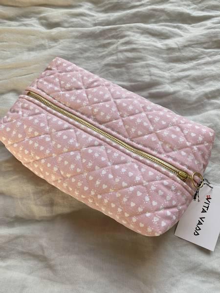Bilde av Stor taske - rosa med hjerter