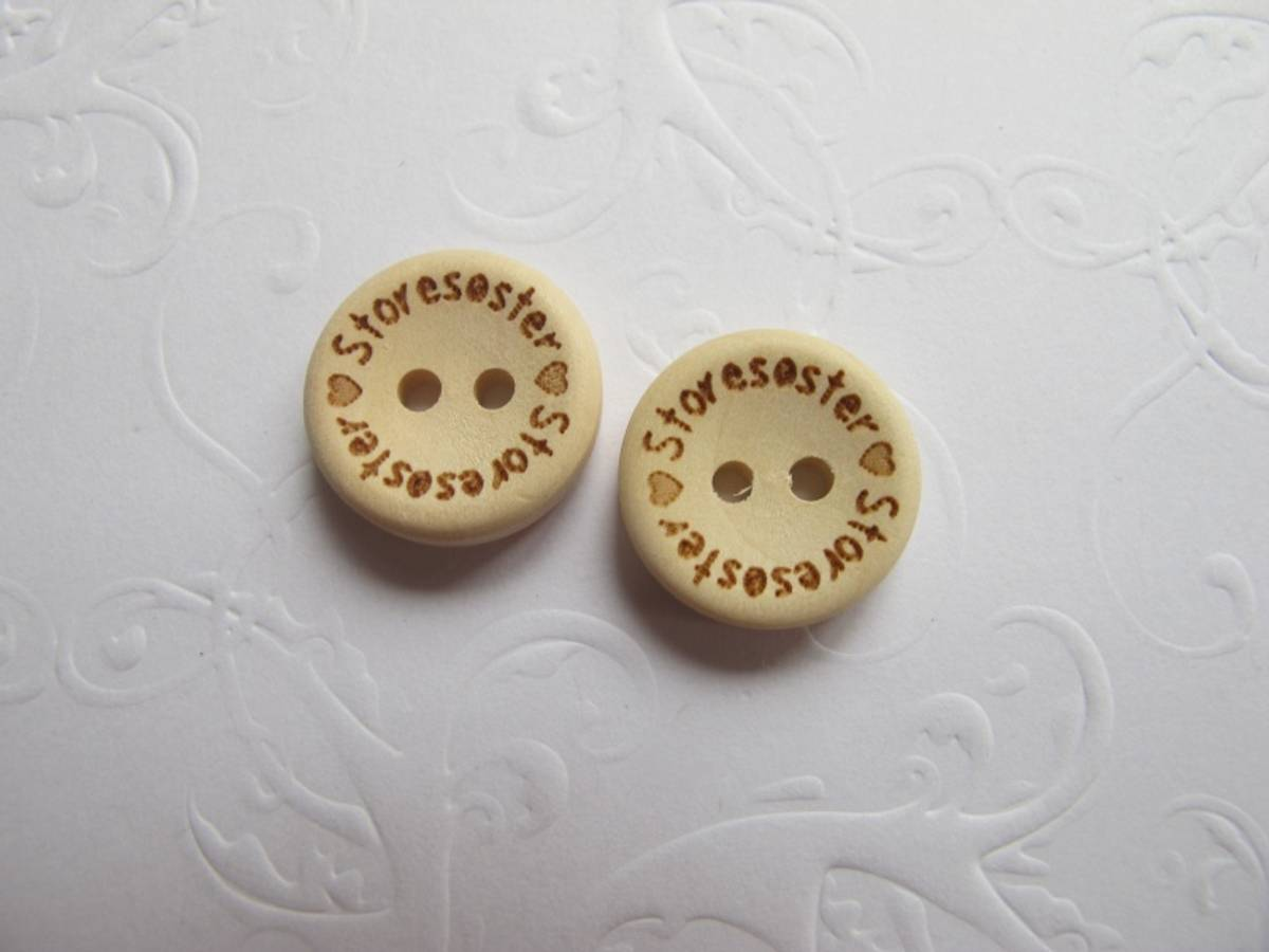 10 stk Storesøster - knapper 15mm