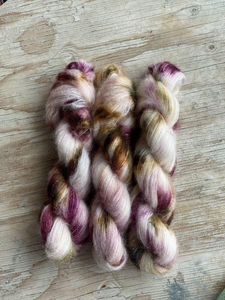 Silk Mohair - Plommetre