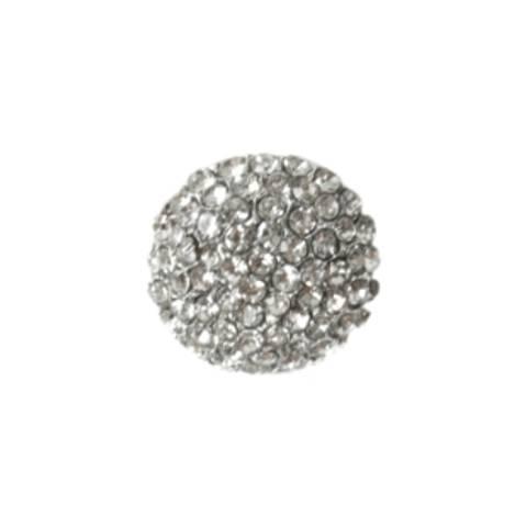 Bilde av KN459 Knapp metall/diamanter 17mm