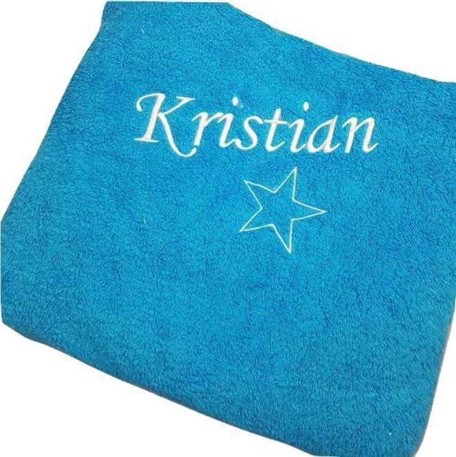 Bilde av Håndkle med navn og stjerne 50x100 cm
