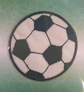 Bilde av Symerke med lim - Fotball, 5 cm rund sort-hvit