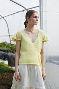 Bilde av Rauma Garn - Lilje omslagsjakke strikkepakke
