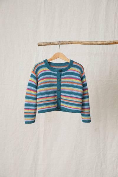 Rauma Garn - 379-1 Friskisjakke (stripet) strikkepakke