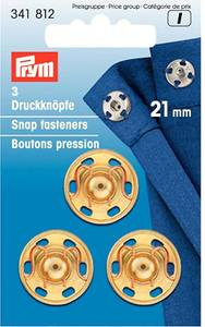 Bilde av PRYM Trykknapper, 21 mm, 3 stk, gull