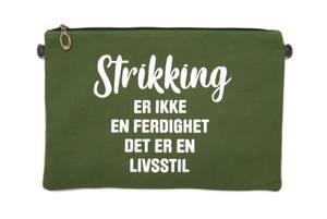 """Bilde av Strikkeveske L - """"Strikking er ikke..."""""""