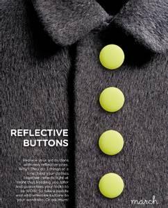 Bilde av Reflective Buttons Mini - Neon Yellow