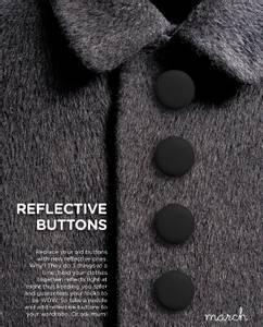 Bilde av Reflective Buttons Mini - Black