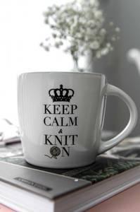Bilde av Strikkekopp - Keep Calm & Knit on