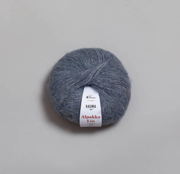 Jeansblå 6555 - Rauma Garn, Alpakka Lin