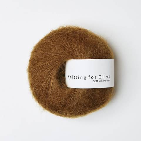 Bilde av Okkerbrun - Knitting for Olive, Soft Silk Mohair