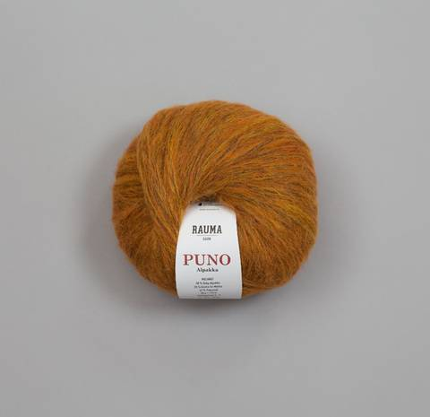 Bilde av 22743 Oransje Melert - Rauma Garn, Puno