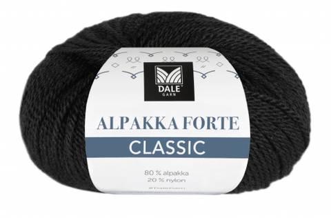 Bilde av 501 Svart - Dale Garn, Alpakka Forte Classic