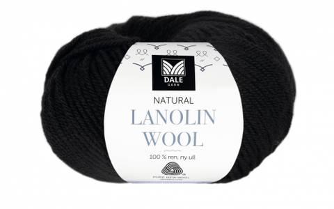 Bilde av 1404 Svart - Dale Garn, Natural Lanolin Wool