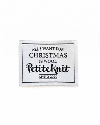 """Bilde av """"All I Want For Christmas is Wool""""-label"""
