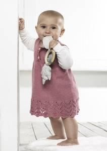 Bilde av Babykjole med hullmønstret kant 3-18 mndr