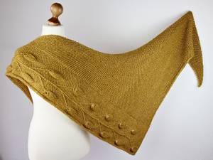 Bilde av GOLDEN LEAF sjal