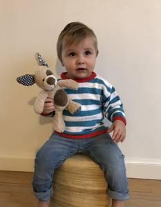 Bilde av Enkel barnegenser med striper 2915