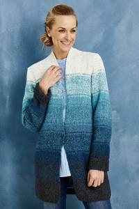 Bilde av Perlestrikket jakke med batikkstriper