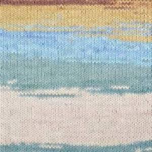Bilde av Elise 69013 Beige/brun/lyseblå batikk
