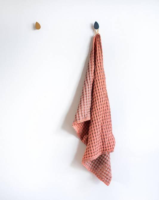 Bilde av Kjøkkenhåndkle Vaffelbom kanel/rosé