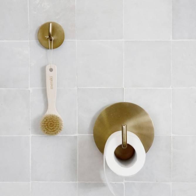 Bilde av Toalettpapirholder Text Messing