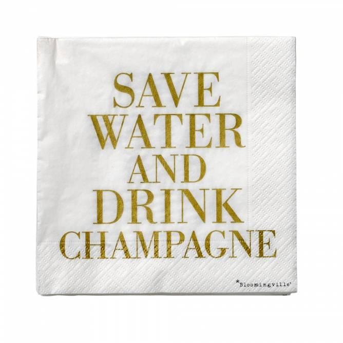 Bilde av Servietter Drink Champagne GOLD