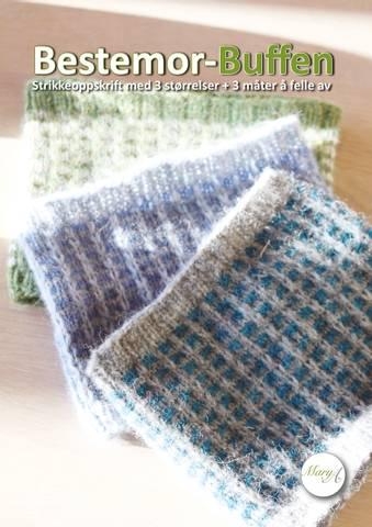 Bilde av Bestemor-Buffen, strikkeoppskrift