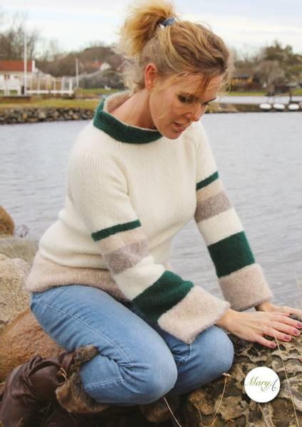 Stranda-genseren, strikkeoppskrift