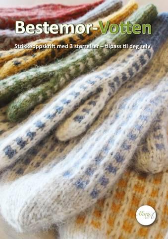 Bilde av Bestemor-Votten, strikkeoppskrift