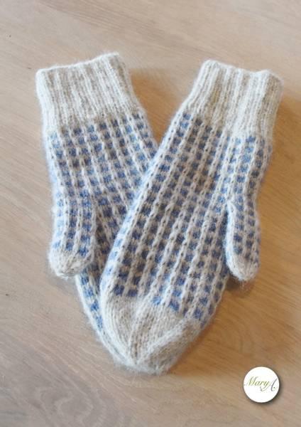 Bestemor-Votten, strikkeoppskrift
