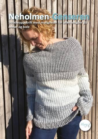 Bilde av Neholmen-Genseren, strikkeoppskrift