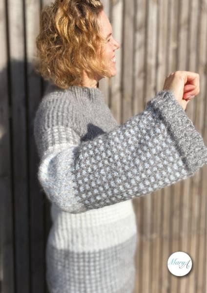 Neholmen-Genseren, strikkeoppskrift