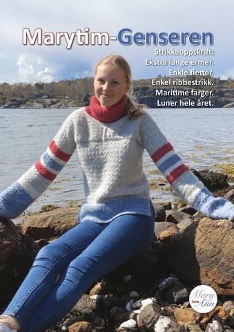 Bilde av Marytim-genseren, strikkeoppskrift