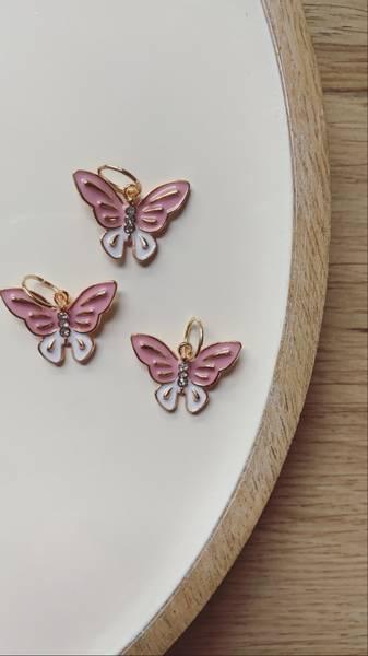 Rosa sommerfugl, raglansett