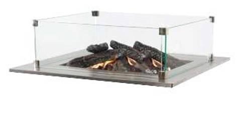 Bilde av Glass til firepit i kvadratisk hagebord