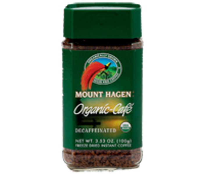 Kaffe koffeinfri frysetørret pulver økologisk Mount Hagen 100 g