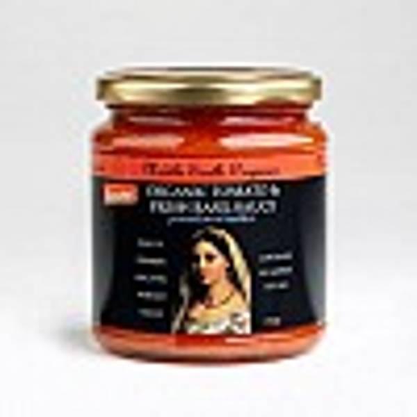 Tomatsaus med basilikum økologisk Demeter 300 g Middle Earth