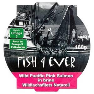 Bilde av Fish4Ever Wild Pacific Pink Salmon (villlaks) i saltlake 160 g